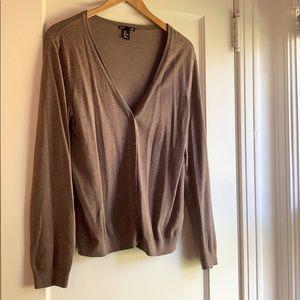 H&M Basic Button Down Cardigan, Brown